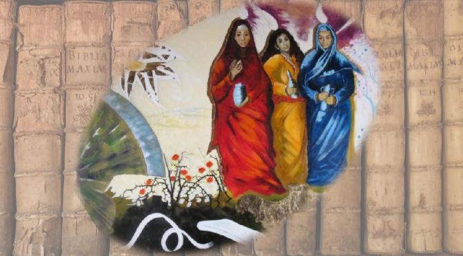peinture frère Vincent, trois femmes devant le tombeau ouvert